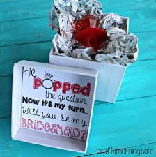 he popped the question bridesmaid ring pop idea free