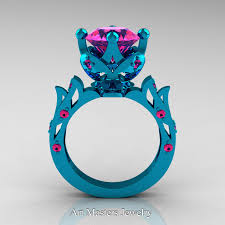 Gps Wedding Ring by Modern Antique 14k Turquoise Gold 3 0 Carat Pink Sapphire
