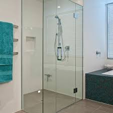 home glass partition frameless shower and bath