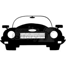 cartoon convertible car royalty free 4329 cartoon silhouette convertible car 382393 vector