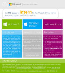 Resume For Summer Internship Join Microsoft Innovation Center U2013 Lahore As Intern In Summer