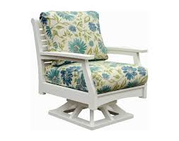 Rocker Cushions Poly Lumber Classic Terrace Swivel Rocker W Sunbrella Cushions