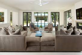 contemporary family room designs with sectionals set with paint