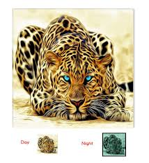 amazon com startonight canvas wall art leopard animals usa