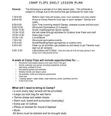 Camp Plans by Camp Flips Daily Lesson Plan Jpg