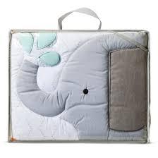 crib bedding set snoozn u0027 safari 4pc cloud island yellow gray
