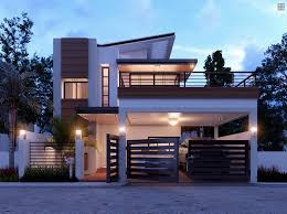 Home Design 1 1 2 Story Duplex Contemporary House With A Terrace Amazing Architecture