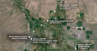 map of highway 395 oregon the malheur occupation in eastern oregon day 25 news opb