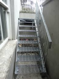 non slip non shovel galvinized steel stair tread steel stairs