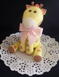 giraffe cake topper jungle cake topper baby giraffe baby shower