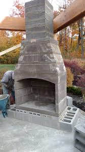 Building Outdoor Fireplace With Cinder Blocks by Outdoor Construction Hda Construction Inc