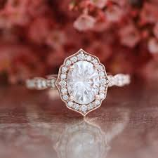 moissanite vintage engagement rings oval cut forever one moissanite vintage floral engagement ring