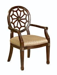 furniture brown wooden spider back accent chair with light brown
