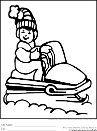 free printable christmas coloring pages snowmobile coloring