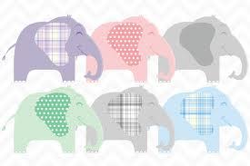 clip art cute baby elephants vector illustrations creative market