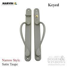 Keyed Patio Door Handle Narrow Traditional Keyed Sliding Patio Door Handle Satin Taupe