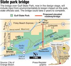Alabama State Map Plan For Bridge Over Gulf State Park Draws Environmental Concerns