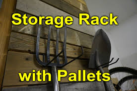 pallet storage rack for the garage modular and easy diy youtube