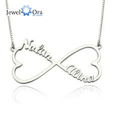 customize necklace personalized name necklace heart 925 sterling silver