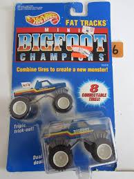 bigfoot 8 monster truck wheels 1991 mini big foot champions fat tracks w 8