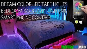 smart control dream color led tape lights for bedroom bedside