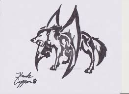 wolf with dragon wings tattoo by okamikurama on deviantart