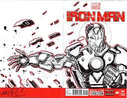 iron man sketch cover by komickarl on deviantart