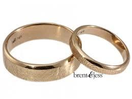 Wedding Rings by Brent U0026jess Custom Handmade Fingerprint Wedding Rings