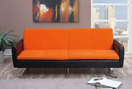 orange microfiber adjustable sofa bed futon lowest price sofa
