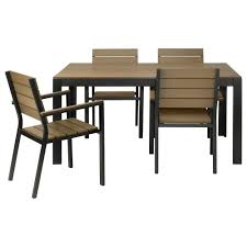 ikea black brown dining table 395 falster table and 4 armchairs black brown ikea dimensions