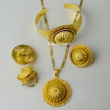 big gold necklace set images Anniyo big ethiopian chain necklace pendant earring ring bangle jpg