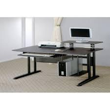 contemporary modern bureau desk contemporary computer table glass and metal