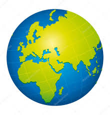 World Map Icon by Green World Globe Icon Europe Africa And Russia View U2014 Stock