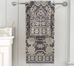 Decorative Hand Towels For Powder Room - striped u0026 patterned bath towels pottery barn