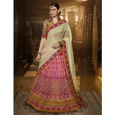 Buy Violet Embroidered Art Silk Art Silk Lehengas Online Buy Art Silk Lehengas For Women In