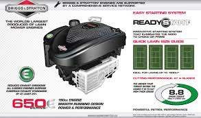 introducing the briggs and stratton 650e engine gardenlines