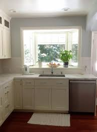 imposing kitchen bay window over sink exterior nook swags with
