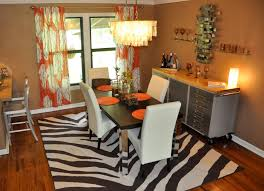 Zebra Dining Chair Marvelous And Attractive Dining Room Rugs Amaza Design