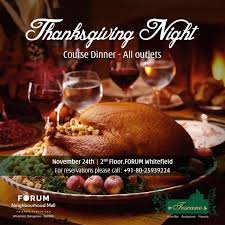 celebrate this thanksgiving with delicious set course dinner by