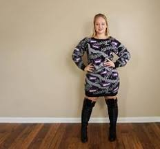 80s sweater dress vtg 80 s esprit sport oversized sweater sz m l palm tree
