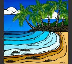 matted prints heather brown artwork tropical hawaiian surf art