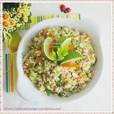cuisiner le celeri salade de boulgour au céleri abricots secs amandes et citron vert