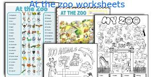 english teaching worksheets at the zoo