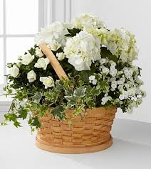 sympathy baskets whispers of peace sympathy basket