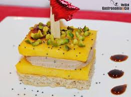 canape de canapé de foie gras mango y pistachos gastronomía cía
