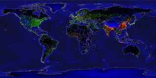 Population Density Map United States by File Earth Lights Vs Population Density Png Wikimedia Commons