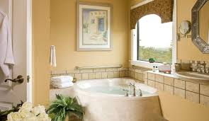luxury bathroom decor ideas with seating area and vases and
