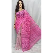 dhakai jamdani saree buy online cotton party wear festive wear dhakai jamdani saree rs 1450