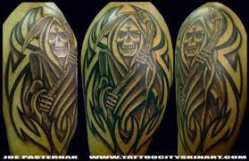 gruesome creepy and awesome grim reaper tattoos