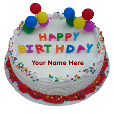 birthday cakes online print online name on colourful decorated birthday cake